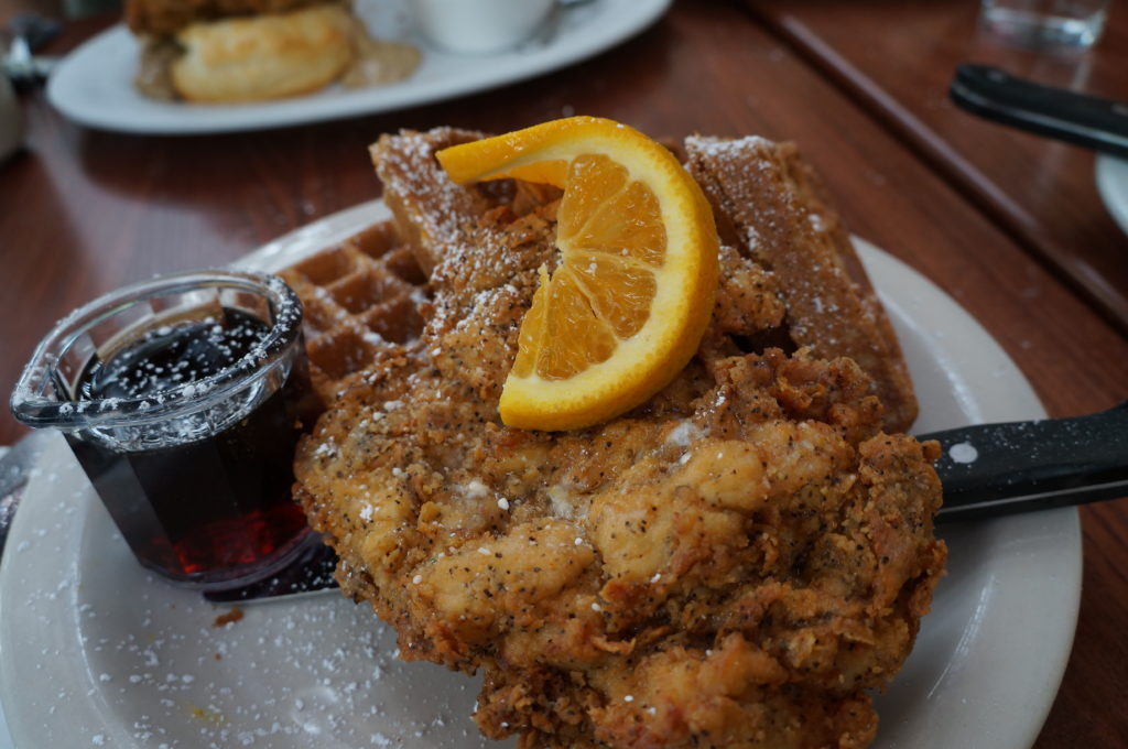 Screen Door - chicken and waffles